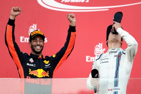 Lance Stroll et Daniel Ricciardo