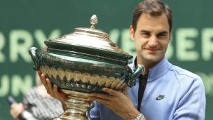 Federer sacré champion à Halle