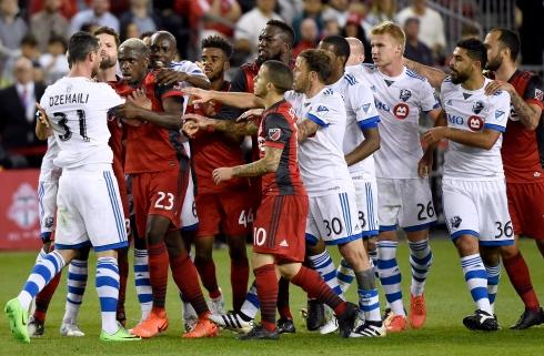 Les esprits s'échauffent entre les joueurs de l'Impact et du Toronto FC