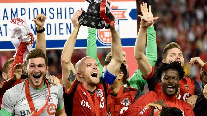 Le Toronto FC célèbre sa conquête du Championnat canadien
