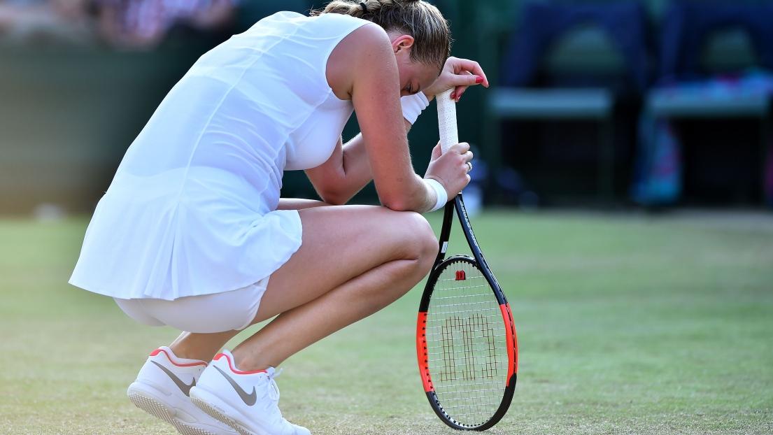 La dernière rescapée française Caroline Garcia en 8es de finale — Wimbledon