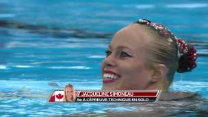 Jacqueline Simoneau 5e en nage artistique