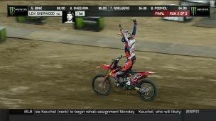 Levi Sherwood épate la galerie aux X Games en motocross