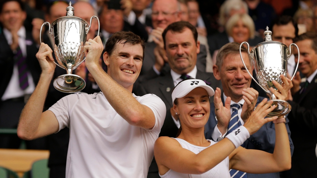 Jamie Murray et Martina Hingis