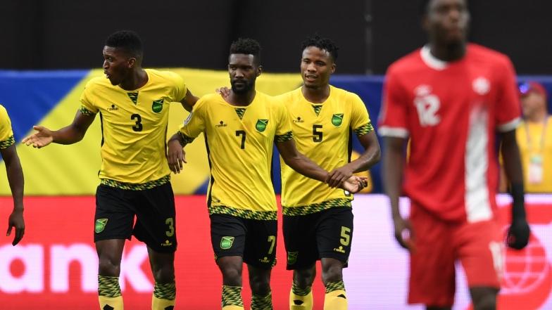 La Jamaïque célèbre le but de Shaun Francis