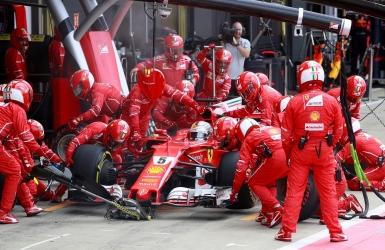 Vettel a été victime d'une crevaison lente