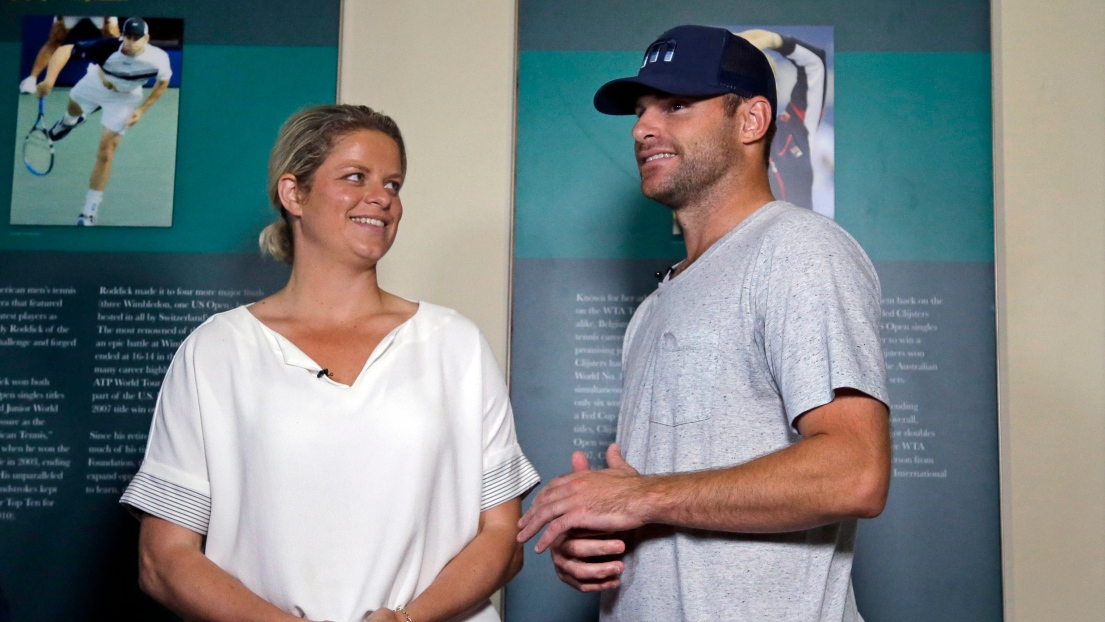 Kim Clijsters et Andy Roddick