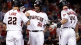 Jake Lamb, J.D. Martinez et Paul Goldschmidt