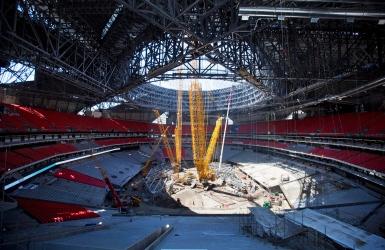 Le toit du stade des Falcons sera fermé à l'ouverture