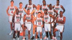 L'équipe olympique de basketball masculin des États-Unis en 1992