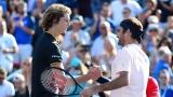 Alexander Zverev et Roger Federer