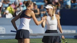 Pliskova a raison de Wozniacki