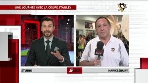 Jacques Martin passe la journée avec la Coupe