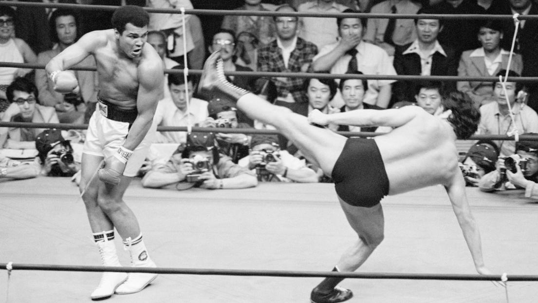 Muhammad Ali et Antonio Inoki