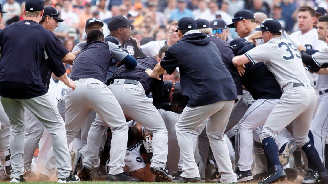 Yankees-Tigers mêlée