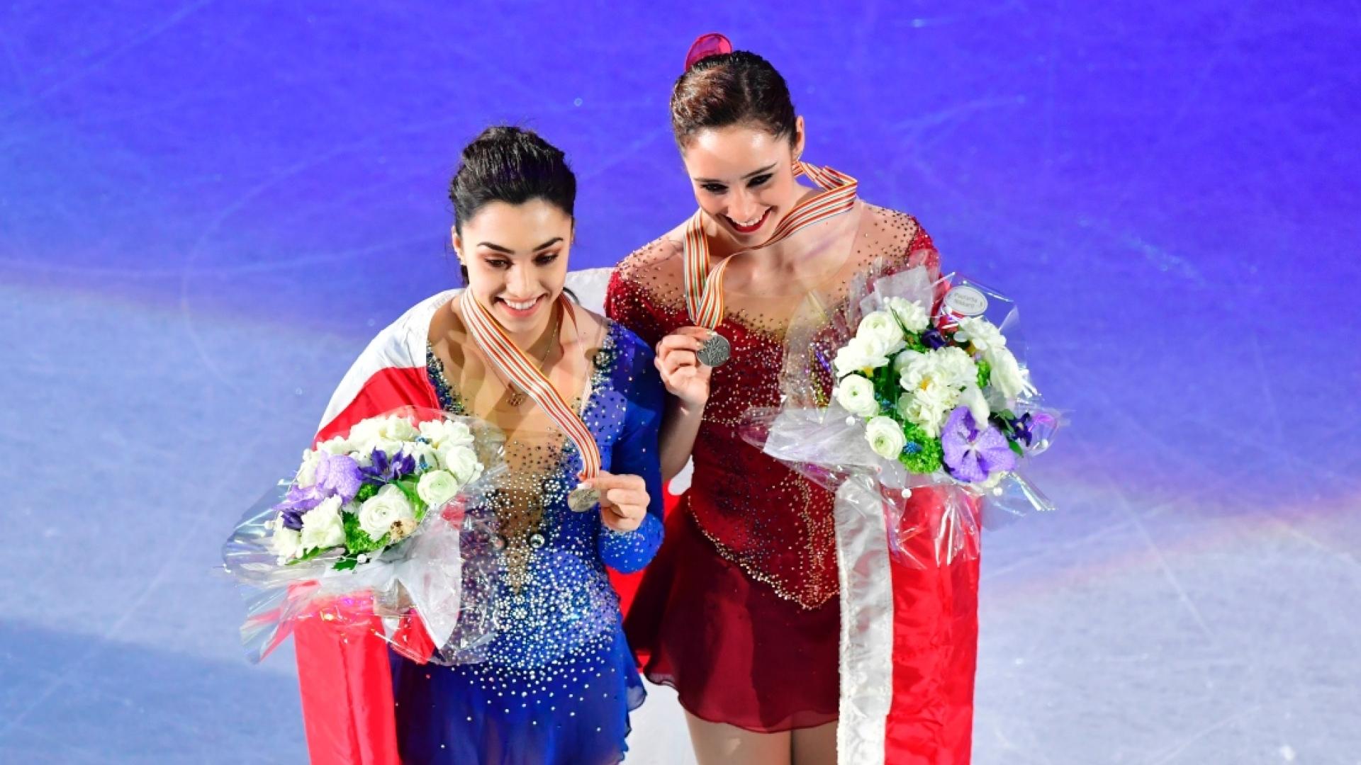 Gabrielle Daleman et Kaetlyn Osmond, médaillées des mondiaux de 2017