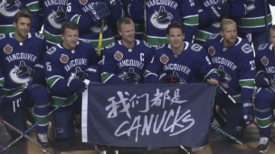 Les Canucks en Chine