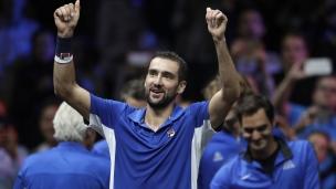 Marin Cilic offre la victoire à son équipe à la Coupe Laver