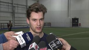 « J'ai hâte de jouer samedi et me sentir plus confortable »