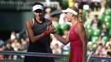 Garbine Muguruza et Caroline Wozniacki