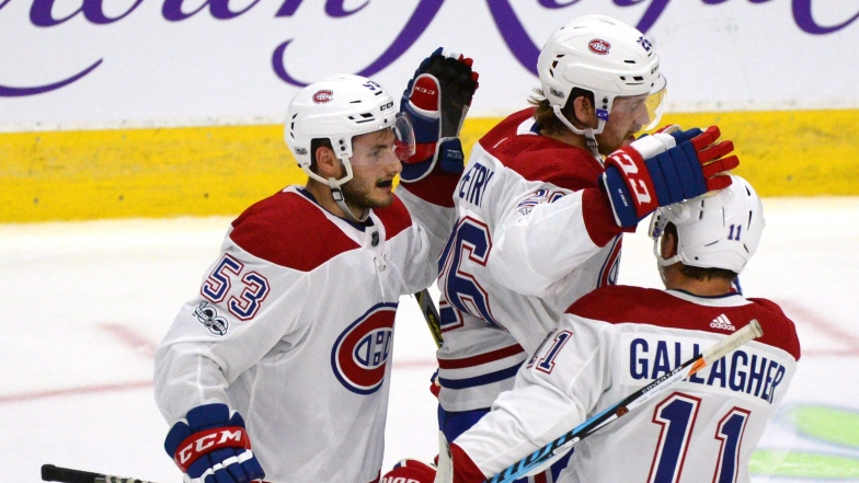 Victor Mete, Jeff Petry et Brendan Gallagher