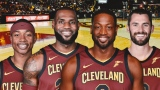 Isaiah Thomas, LeBron James, Dwyane Wade et Kevin Love