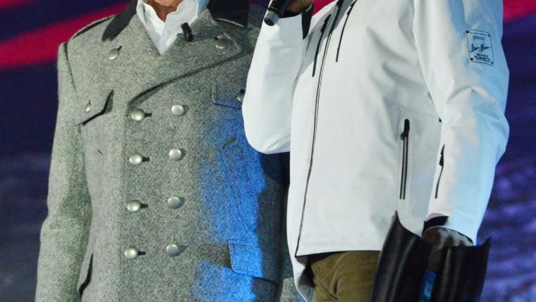 Hermann Maier et Arnold Schwarzenegger