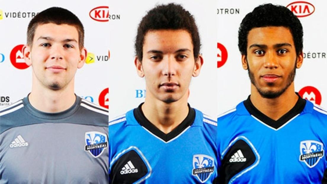 Maxime Crépeau, Zakaria Messoudi et Anthony Jackson-Hamel.