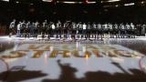 Les cérémonies d'avant-match à Las Vegas