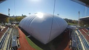 Le nouveau dôme du Stade Canac en 47 secondes!