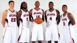 Kyle Korver, DeMarre Carroll, Al Horford, Paul Millsap et Jeff Teague