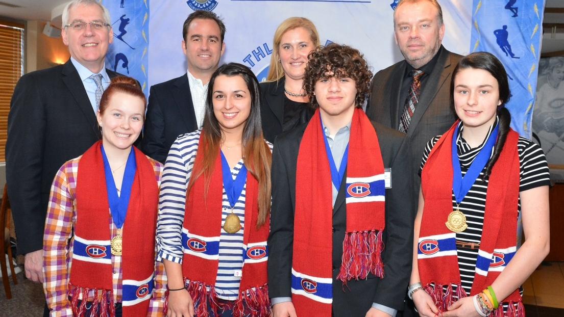 Les lauréats du cinquième rendez-vous de la saison du Club de la médaille d'or.