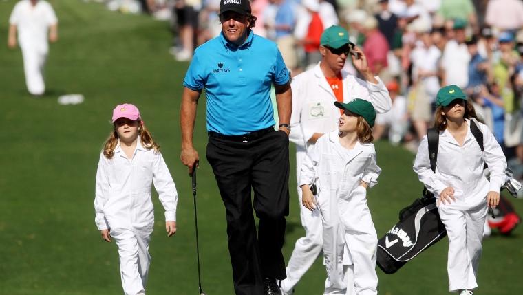Phil Mickelson accompagné de ses enfants.