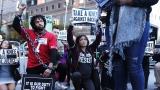 Manifestation contre la NFL à New York