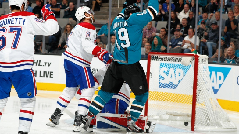 Joe Thornton et Shea Weber