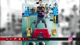 Oups! L'entraînement étonnant de Petr Cech