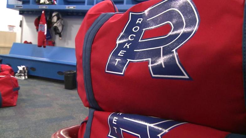 Un sac d'équipement du Rocket de Laval.