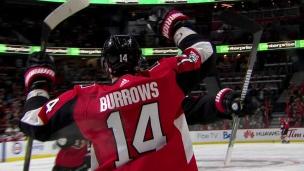 Burrows complète une passe parfaite de Karlsson