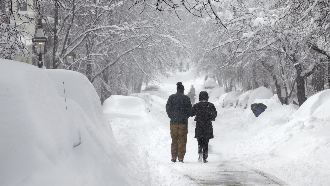 Boston neige