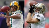 Brett Hundley et Drew Brees