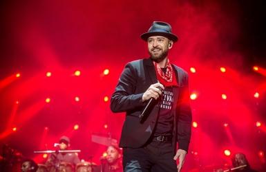 Justin Timberlake à la mi temps du Super Bowl