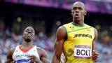 Dwain Chambers et Usain Bolt