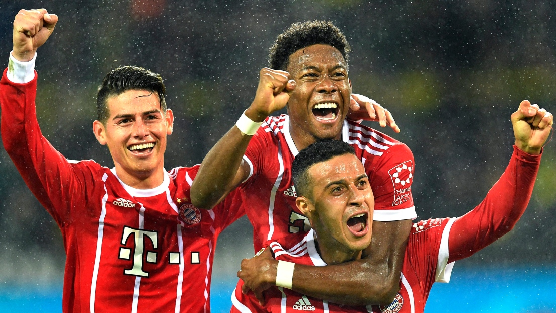James, David Alaba et Thiago