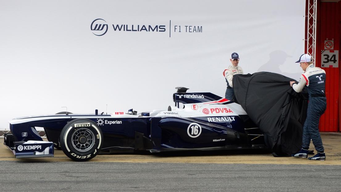 Valtteri Bottas et Pastor Maldonado dévoilent la FW35 de Williams