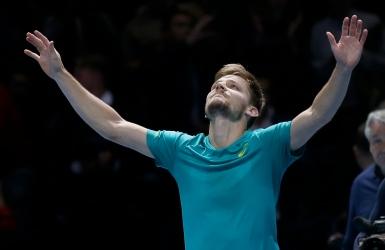 David Goffin joue le tour à Federer à Londres