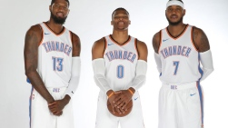 Paul George, Russell Westbrook et Carmelo Anthony