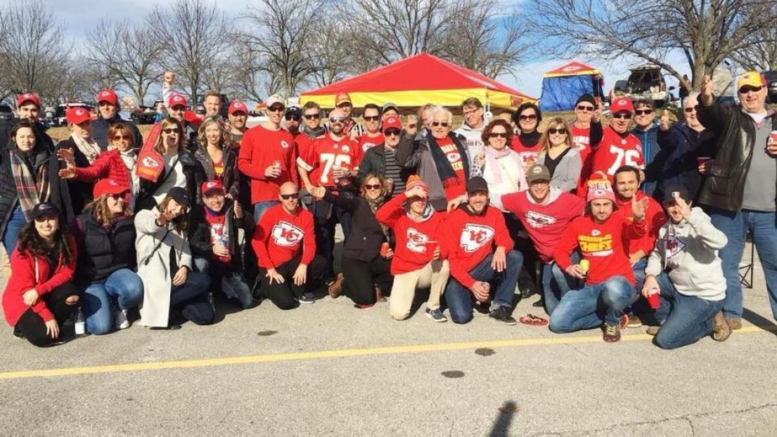 Le groupe d'une soixantaine de personnes présent à Kansas City