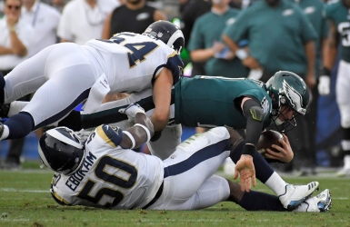 Les Eagles se qualifient mais perdent Wentz