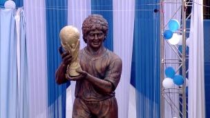 Une statue en l'honneur de Maradona