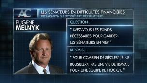 Les Sénateurs en difficultés financières